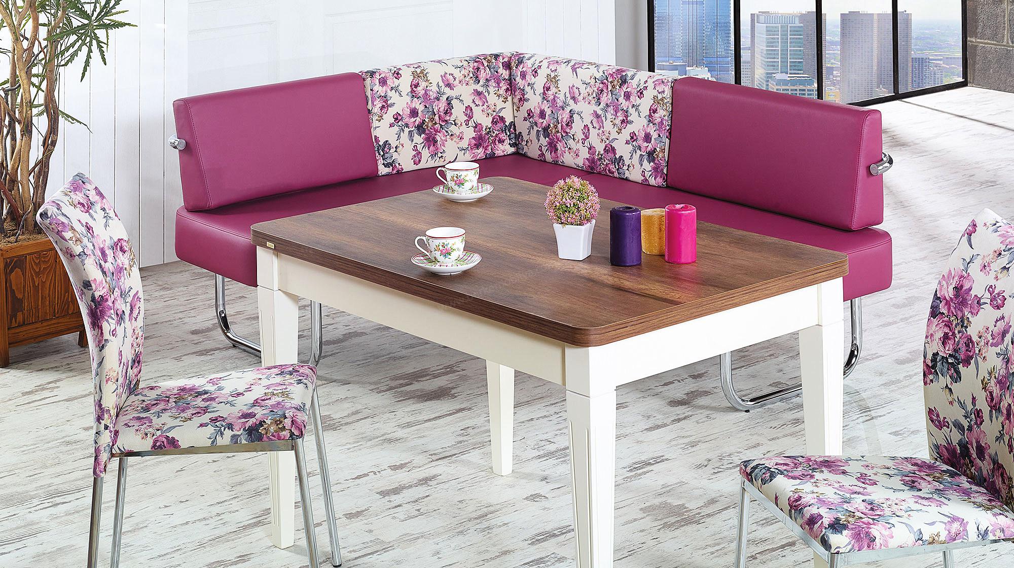 Köşeli mutfak masası modeleri