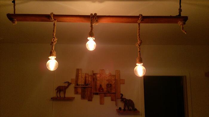 dekoratif ahşap aydınlatma
