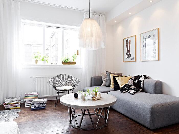minimalist oturma odası dekor