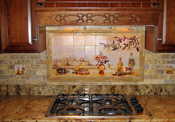 mozaik mutfak duvarı dekor