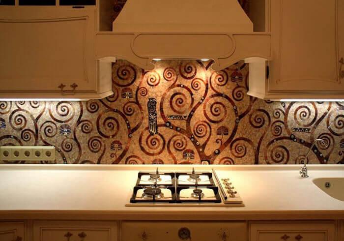 mozaik mutfak duvarı dekorasyonları