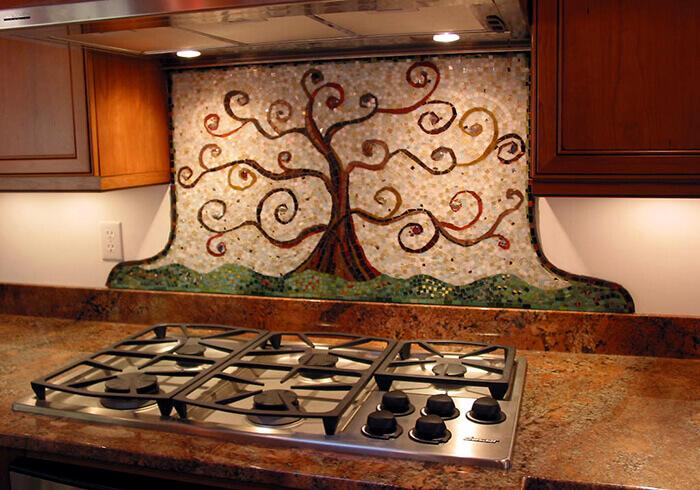 mozaik mutfak duvarı