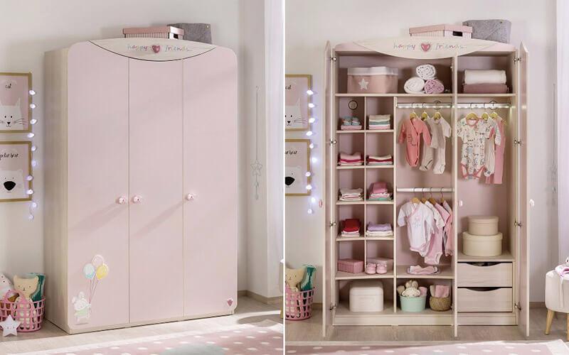 bebek odası dolap fikirleri