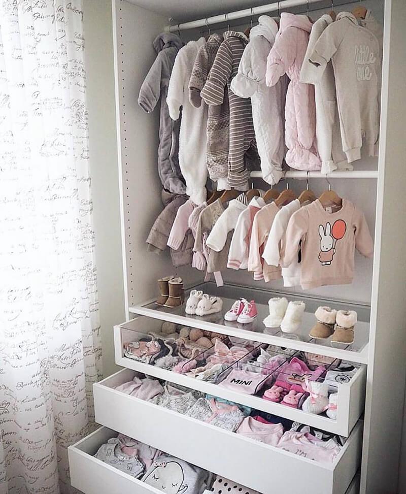 en güzel bebek odası dolap fikirleri
