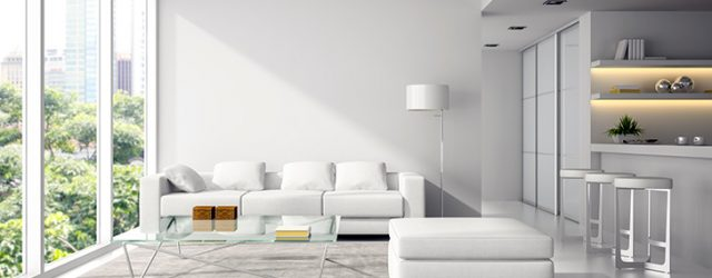 ev dekorasyonunda beyaz renk kullanımı