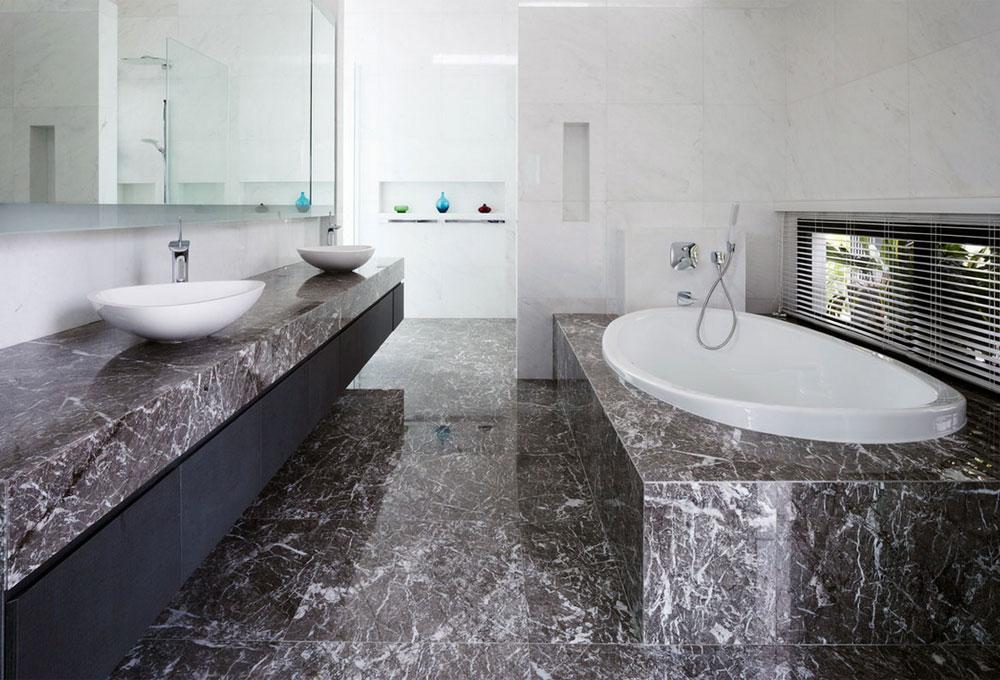 banyoda mermer kullanımı