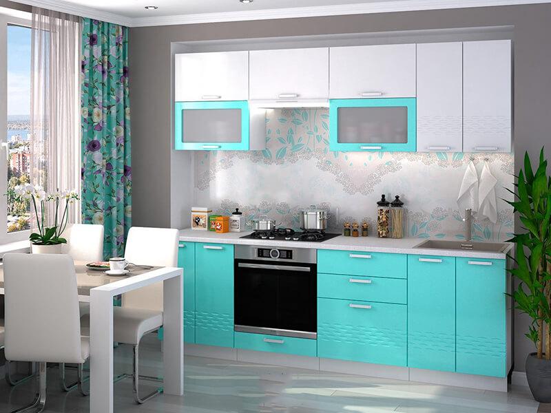 mavi beyaz mutfak dekorasyonu